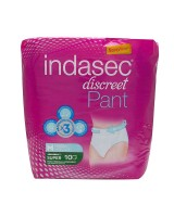 Indasec Discreet Pant Super T.Media 10 Uds